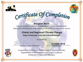 Global and regional climate change certificate yadclub Gallery