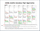 JAIVEX Flight Opportunity Calender