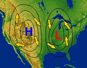 High Low Weather Map Weather, Water and Weather Satellites
