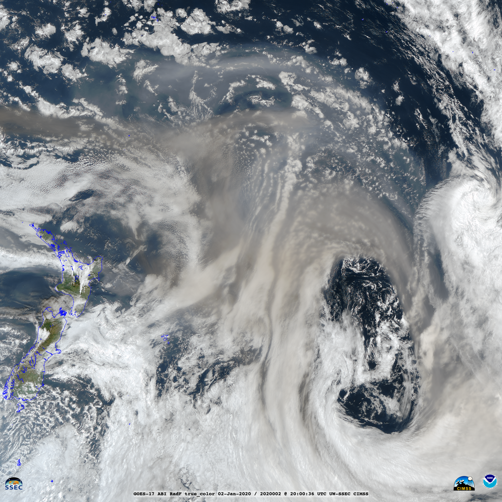 GOES-17 True Color RGB images [click to play animation   MP4]