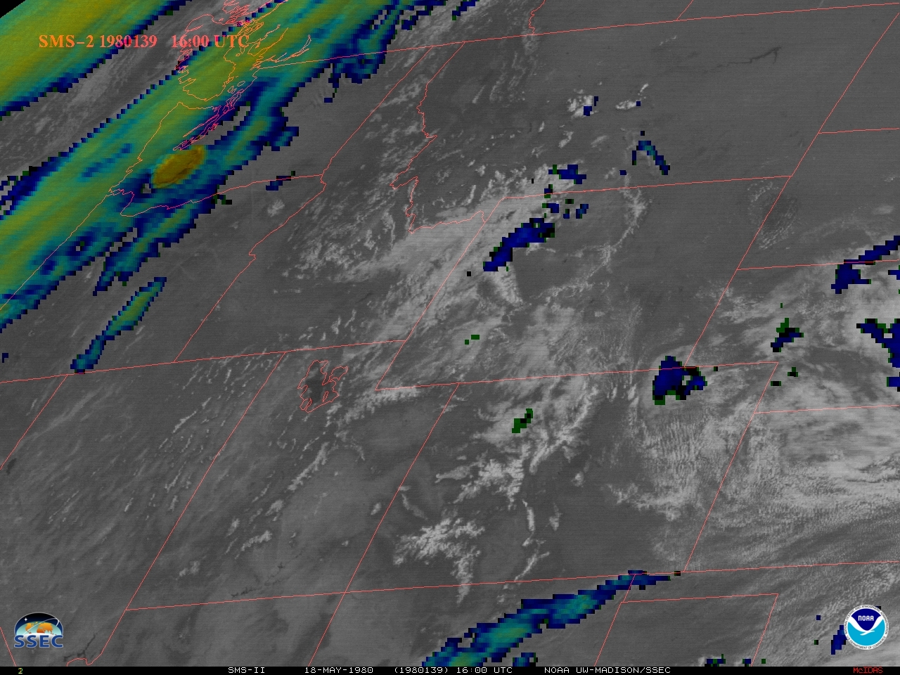 NASA SMS-2 Visible/Infrared Sandwich RGB images (credit: Tim Schmit, ASPB/CIMSS) [click to play MP4 animation]