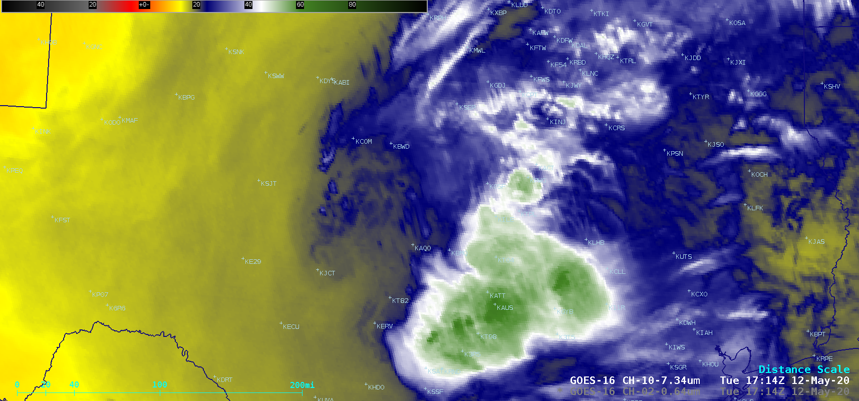 GOES-16 Low-level Water Vapor (7.34 µm) images [click to play animation | MP4]