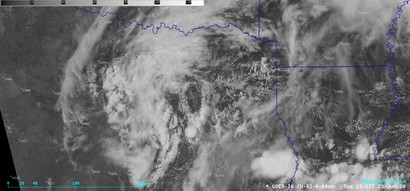 """GOES-16 """"Red"""" Visible (0.64 µm) images [click to play animation   MP4]"""