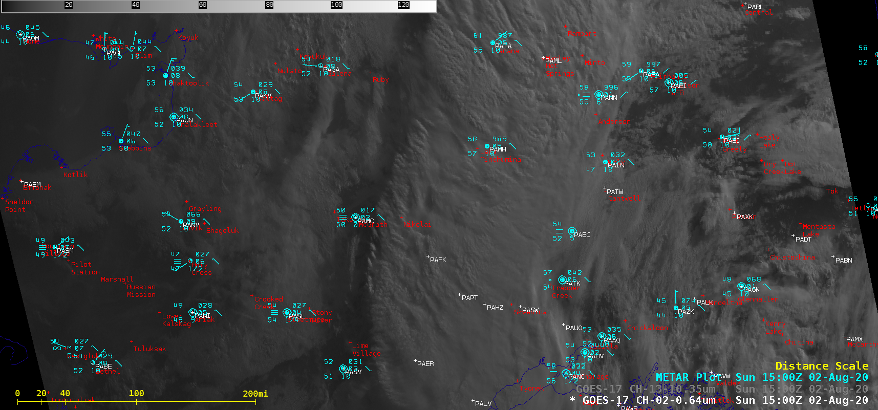 """GOES-17 """"Red"""" Visible (0.64 µm) images [click to play animation   MP4]"""