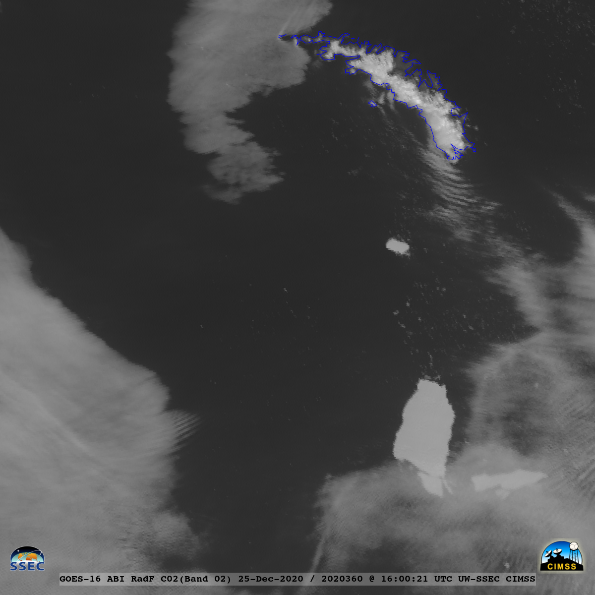 """GOES-16 """"Red"""" Visible (0.64 µm) images [click to play animation 