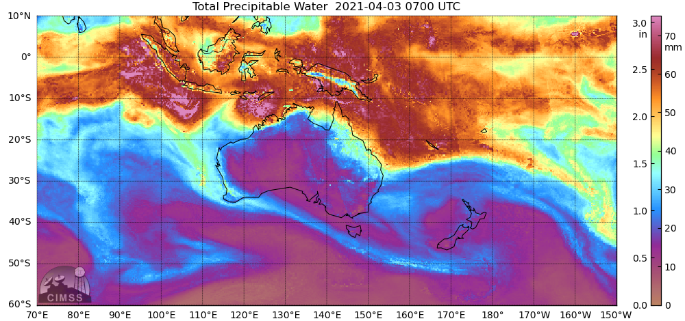MIMIC Total Precipitable Water product [click to play animation | MP4]
