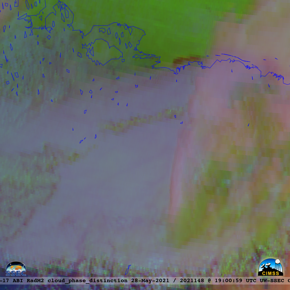 GOES-17 Day Cloud Phase Distinction RGB images [click to play animation | MP4]