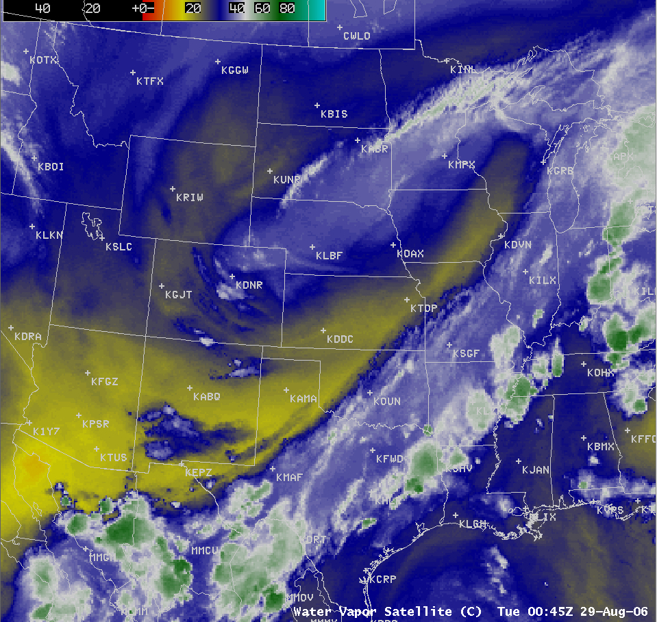 GOES-12 Water Vapor (6.5 µm) image [click to enlarge]