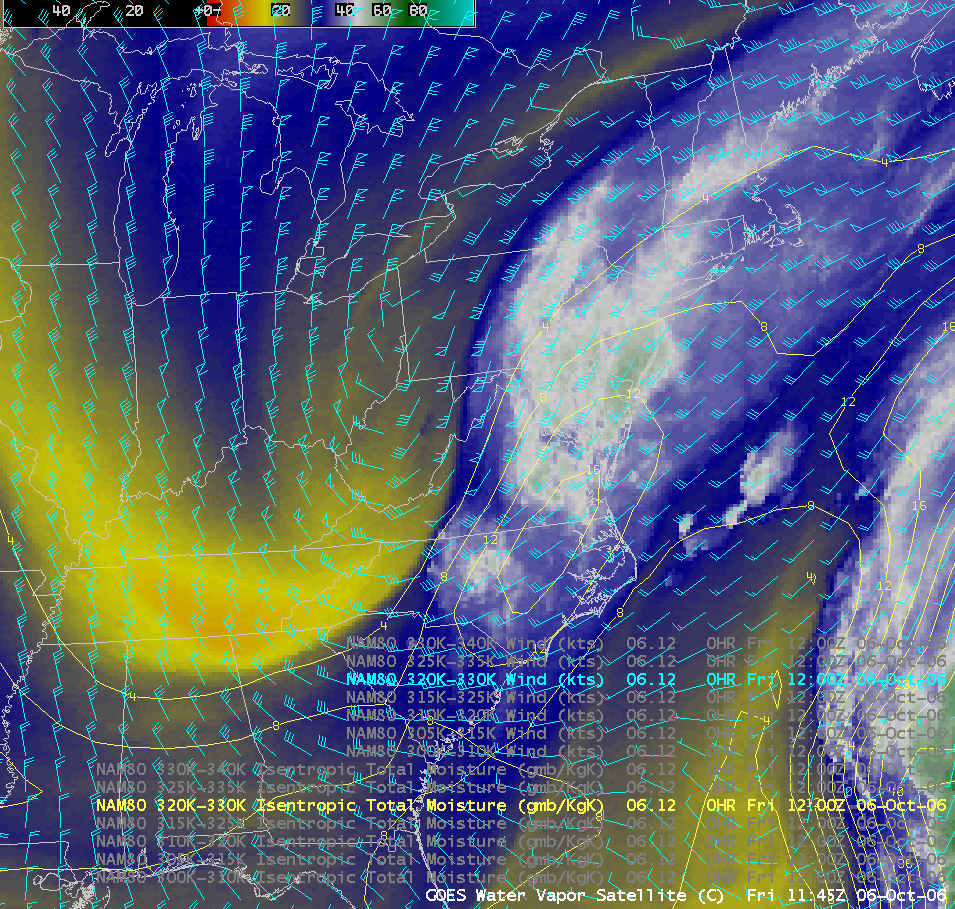 AWIPS GOES water vapor image