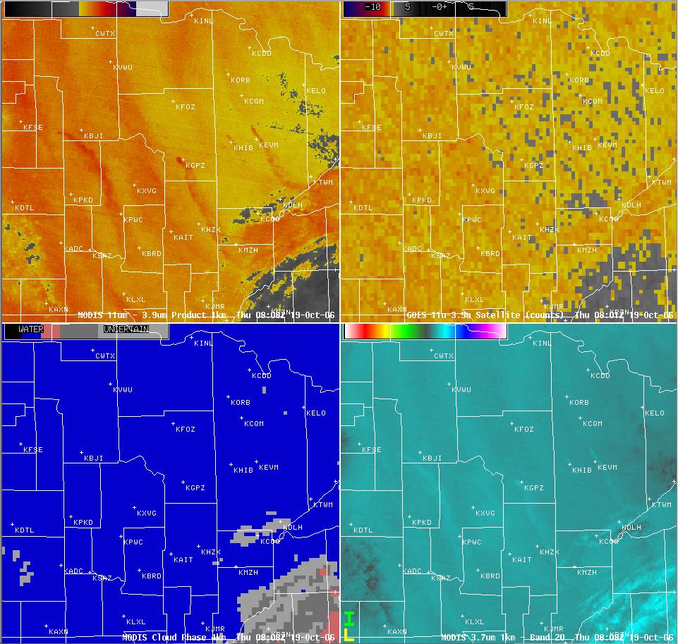 AWIPS MODIS + GOES comparison