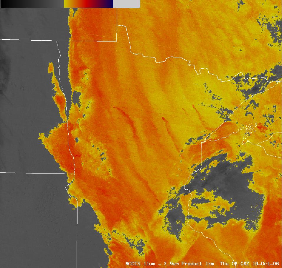 AWIPS MODIS fog/stratus product