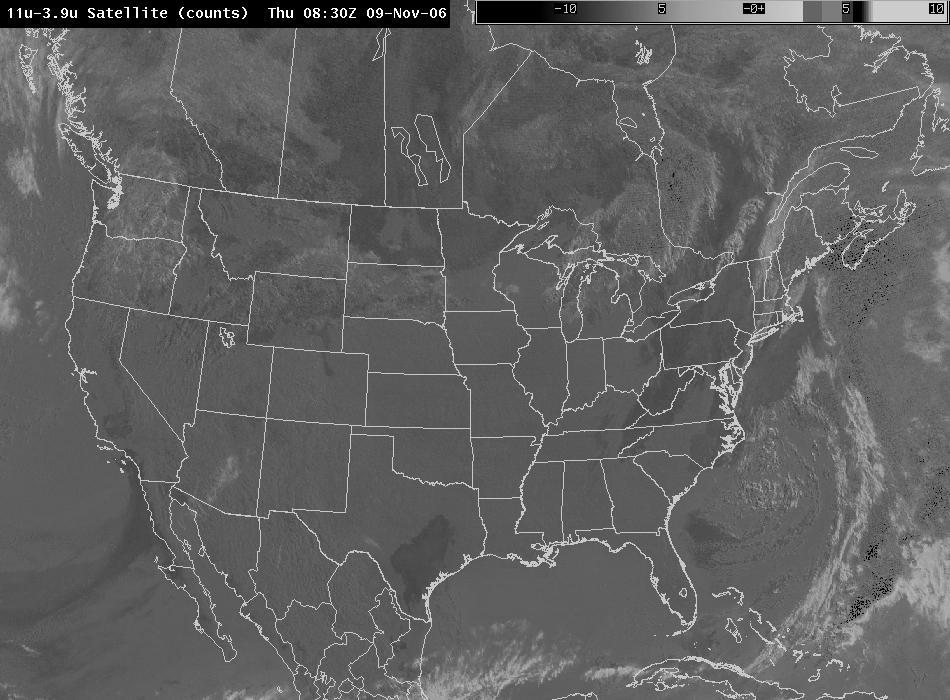 GOES 11-3.9 9 November 2006 0830 UTC