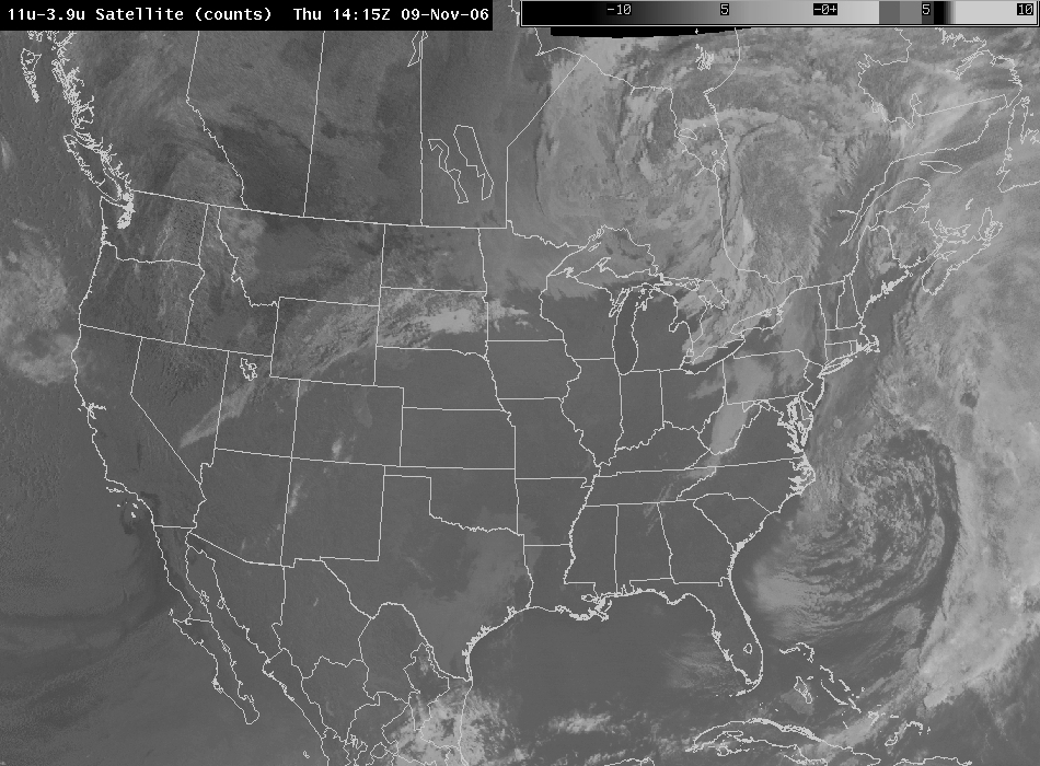 Later Time for GOES 11-3.9 micron image