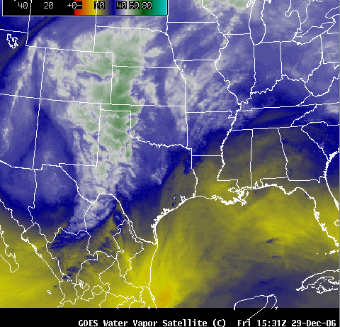 GOES water vapor channel image
