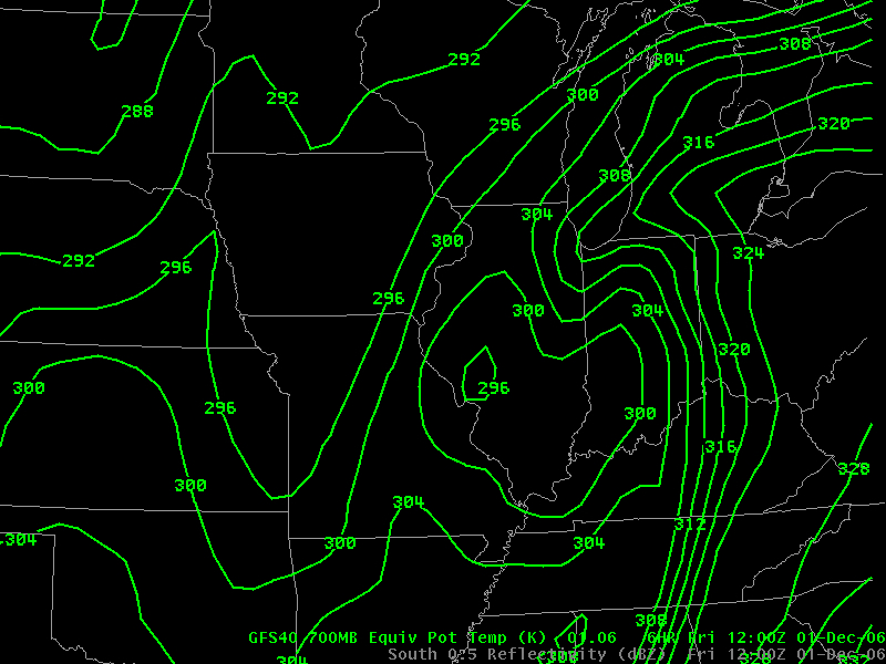 700-mb ThetaE from GFS