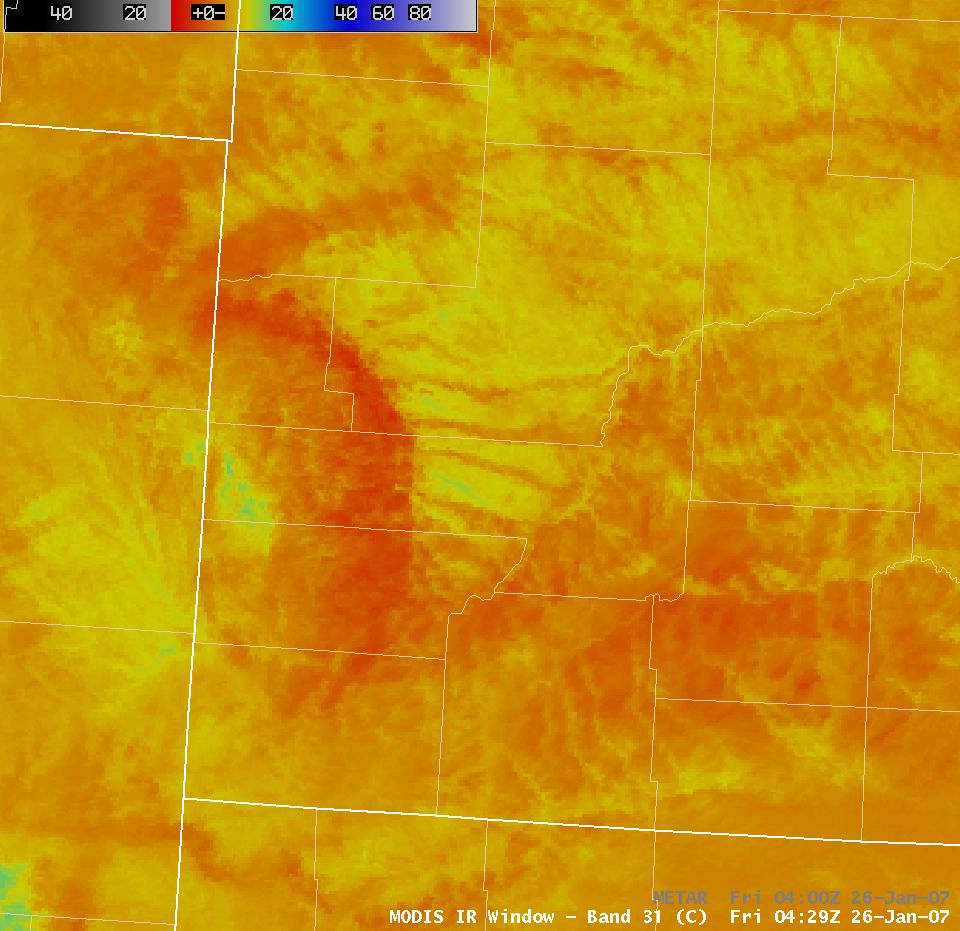 AWIPS MODIS IR image