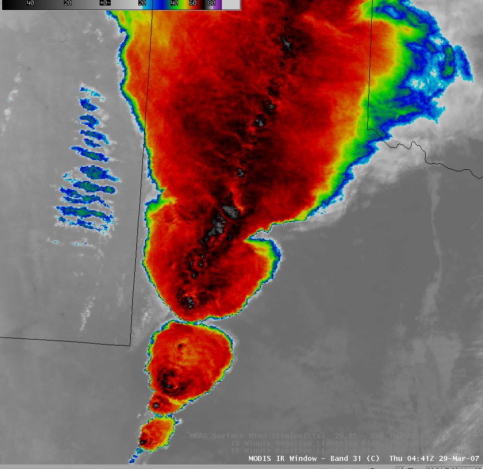 AWIPS MODIS 11.0 µm IR image