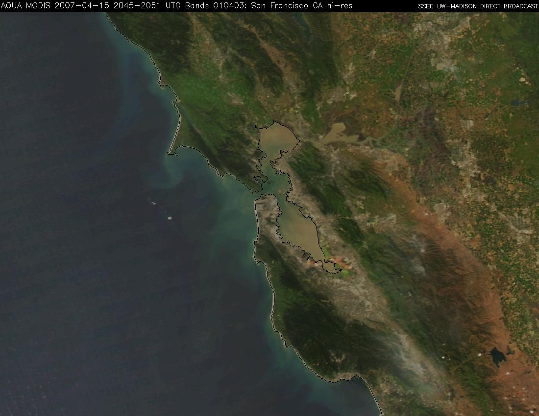 MODIS true color image (San Francisco sector)