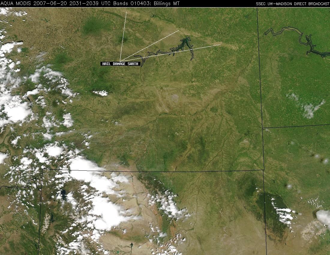 Aqua MODIS true color image