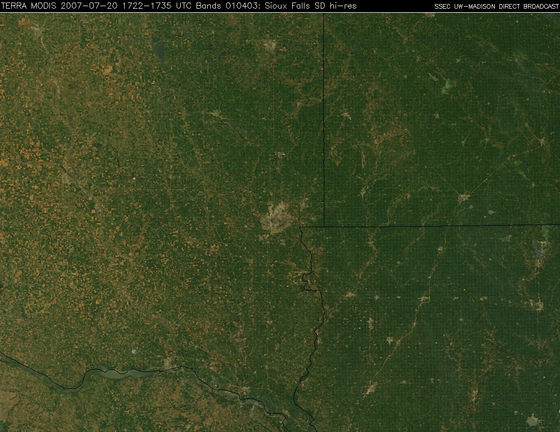 Terra MODIS true color image
