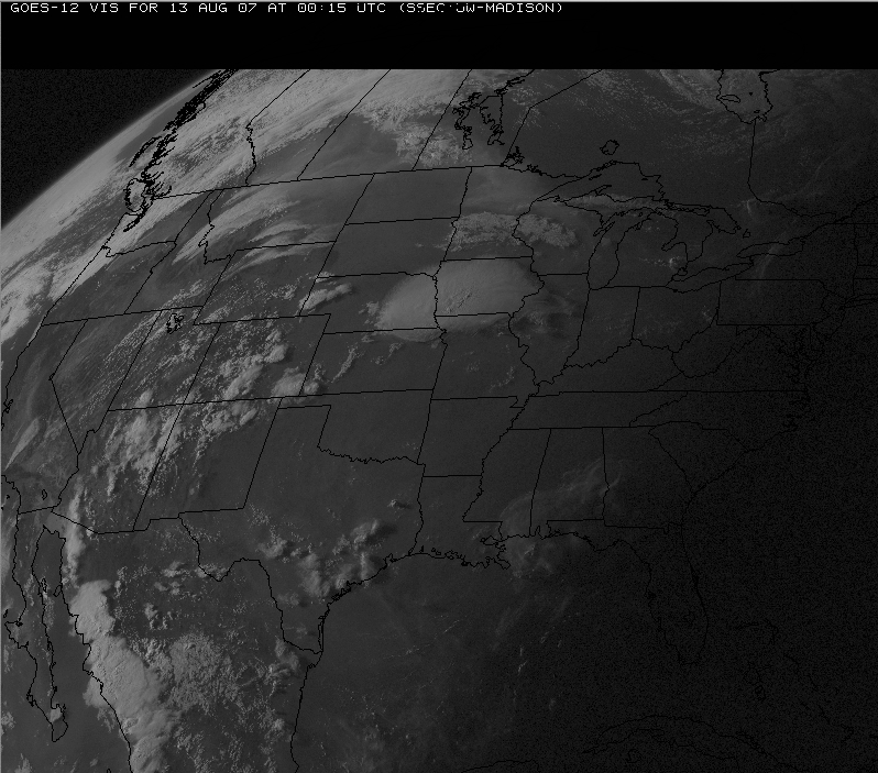GOES-12 visible images (QuickTime animation)
