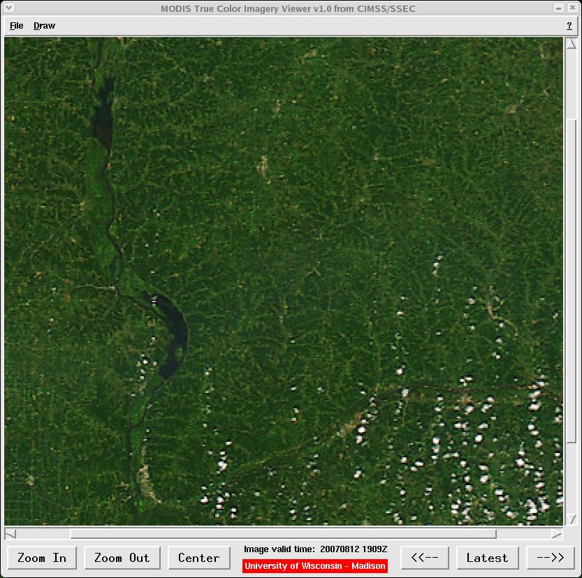 MODIS true color image (12 August 2007)
