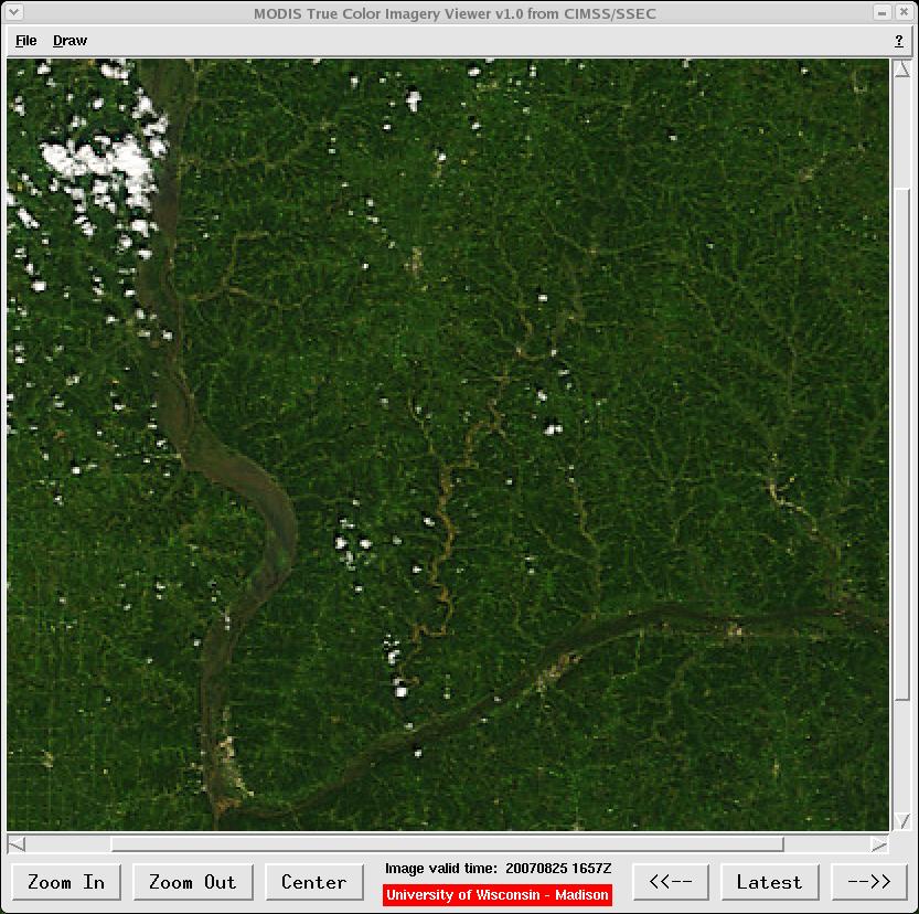 MODIS true color image (25 August 2007)