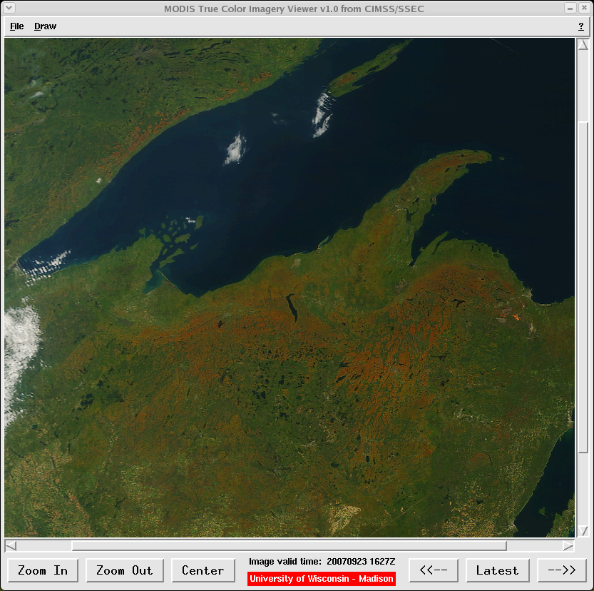 AWIPS MODIS true color imagery viewer