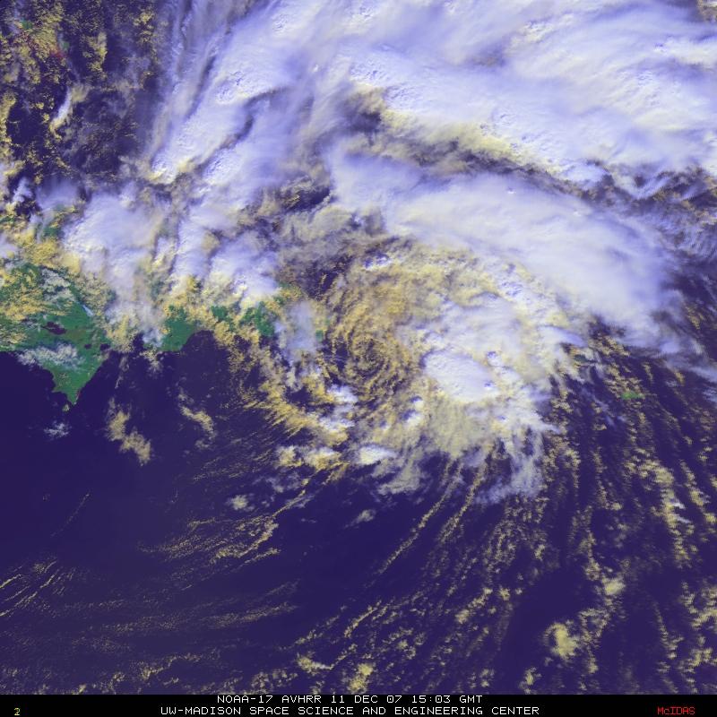 NOAA-17 AVHRR RGB image