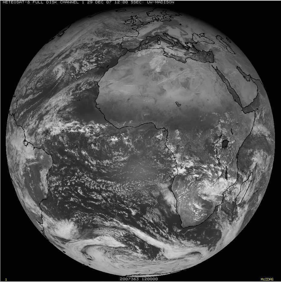 Meteosat-8 visible image