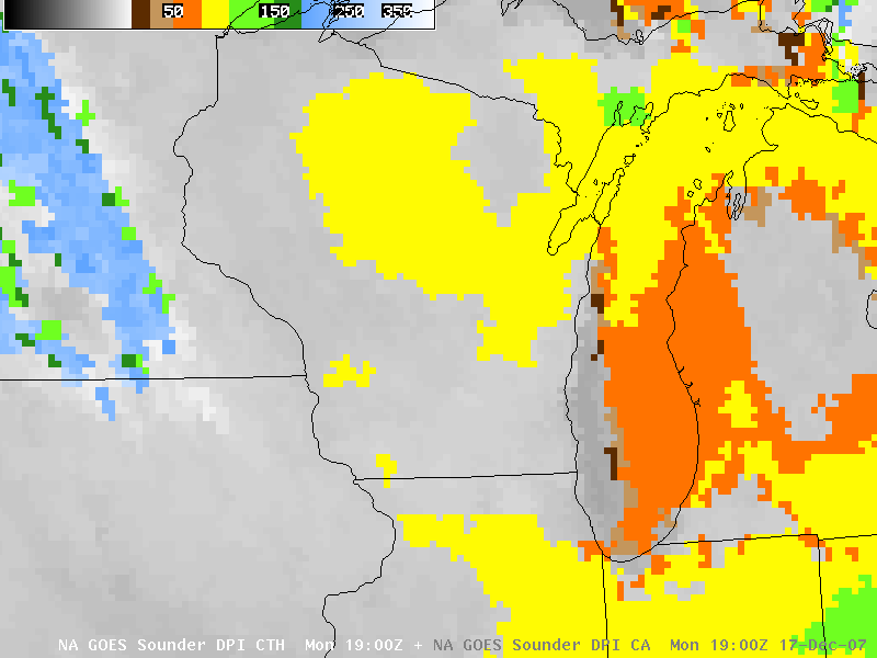 GOES-12 sounder Cloud Top Height