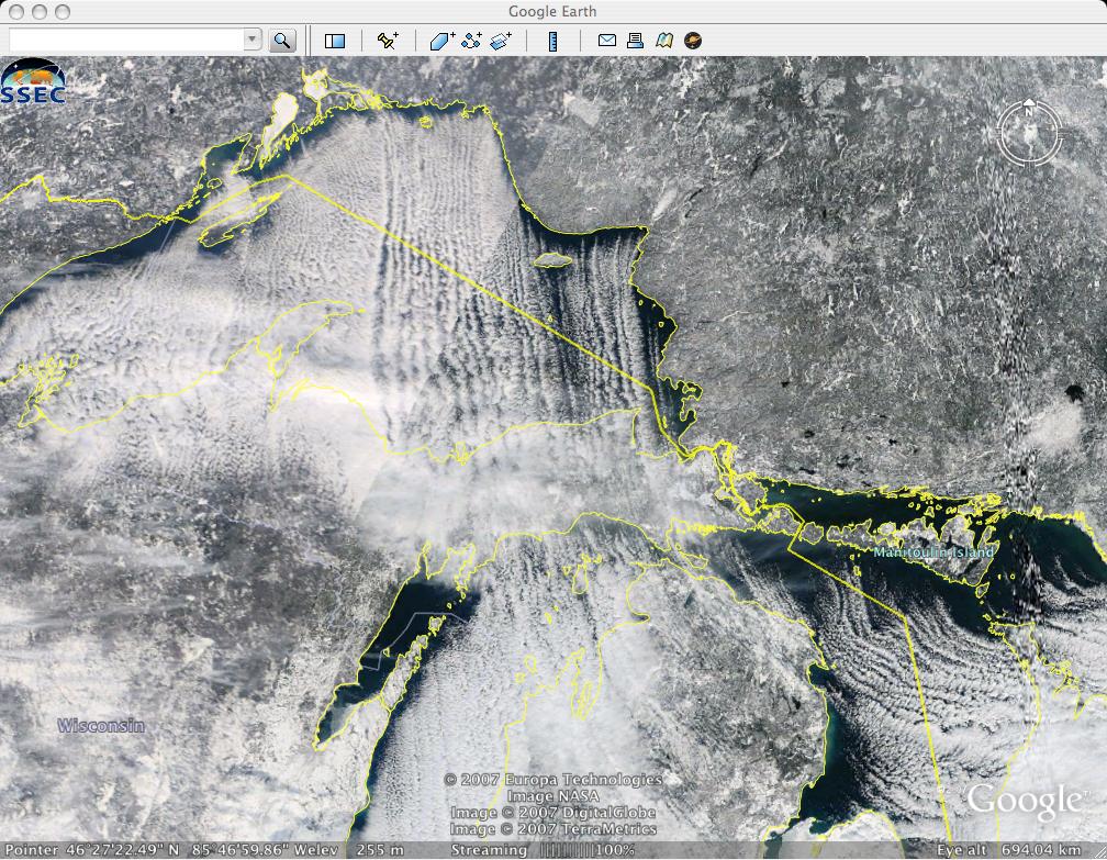 MODIS Google Earth imagery