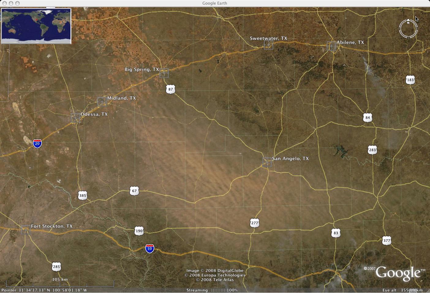 MODIS true color image (Google Earth)