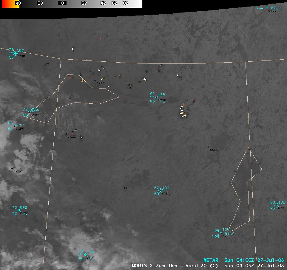 MODIS 3.7 µm shortwave IR image