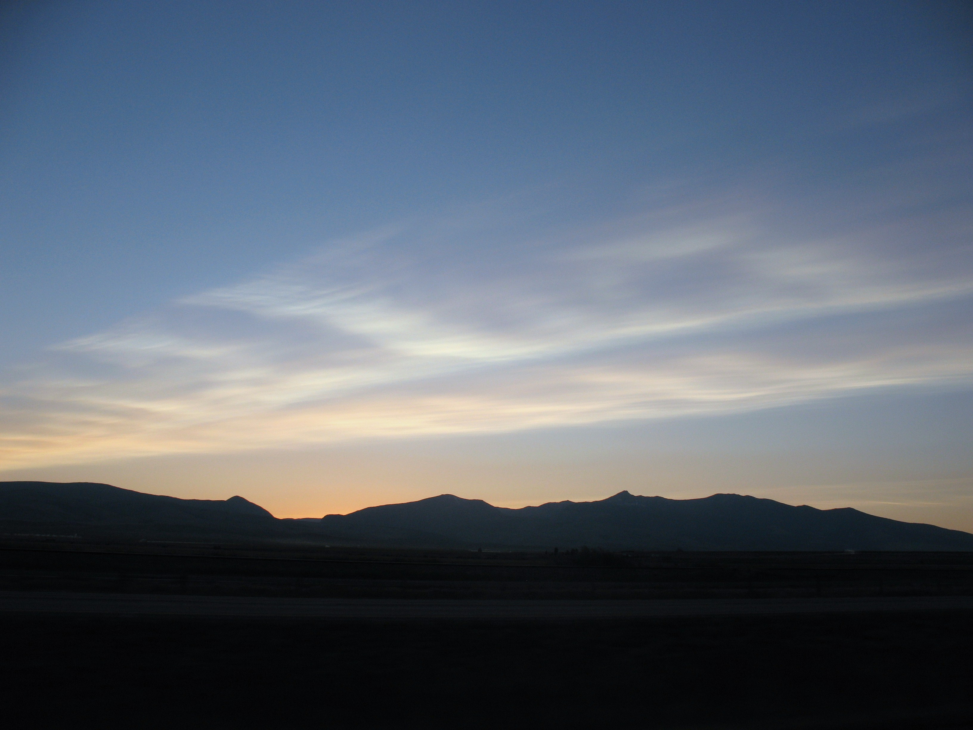 Photo of volcanic clouds over western Montana
