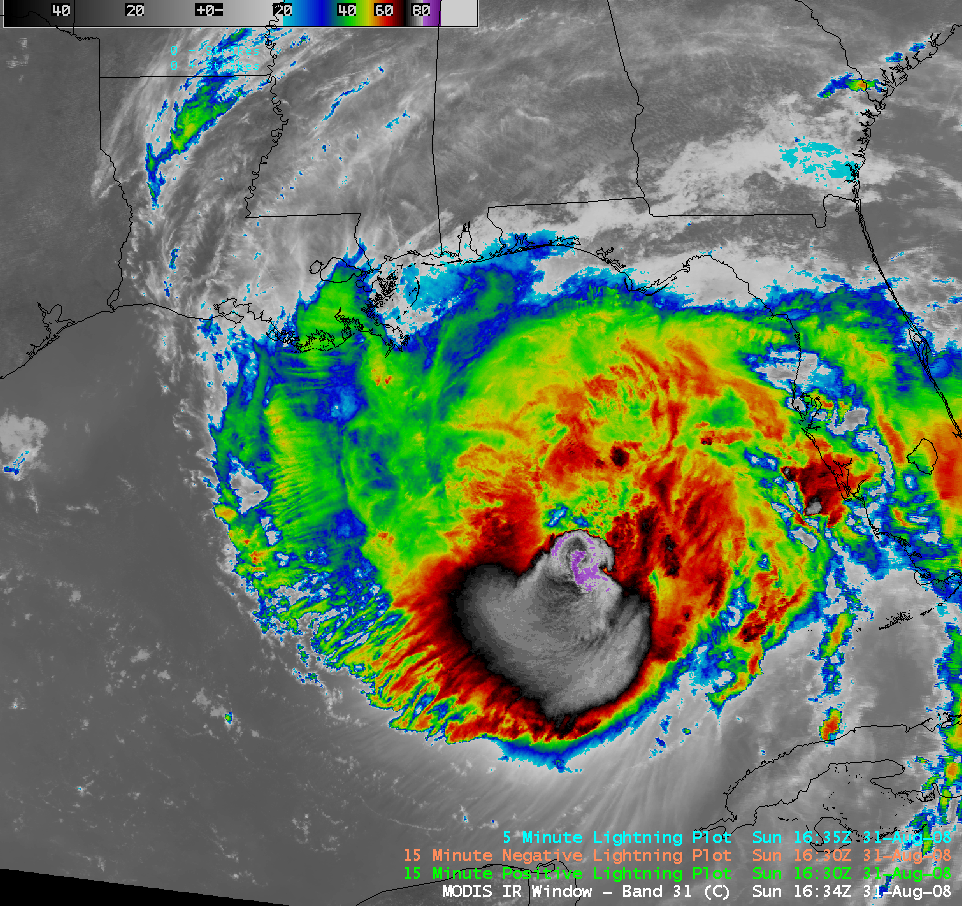 AWIPS image of MODIS 11.0 µm IR channel data