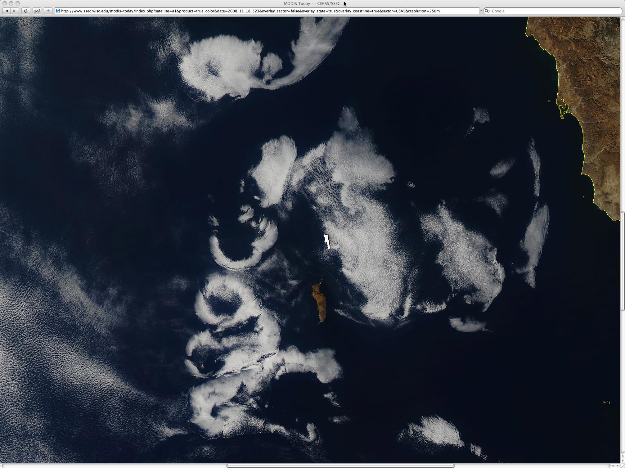 250-m resolution MODIS true color image