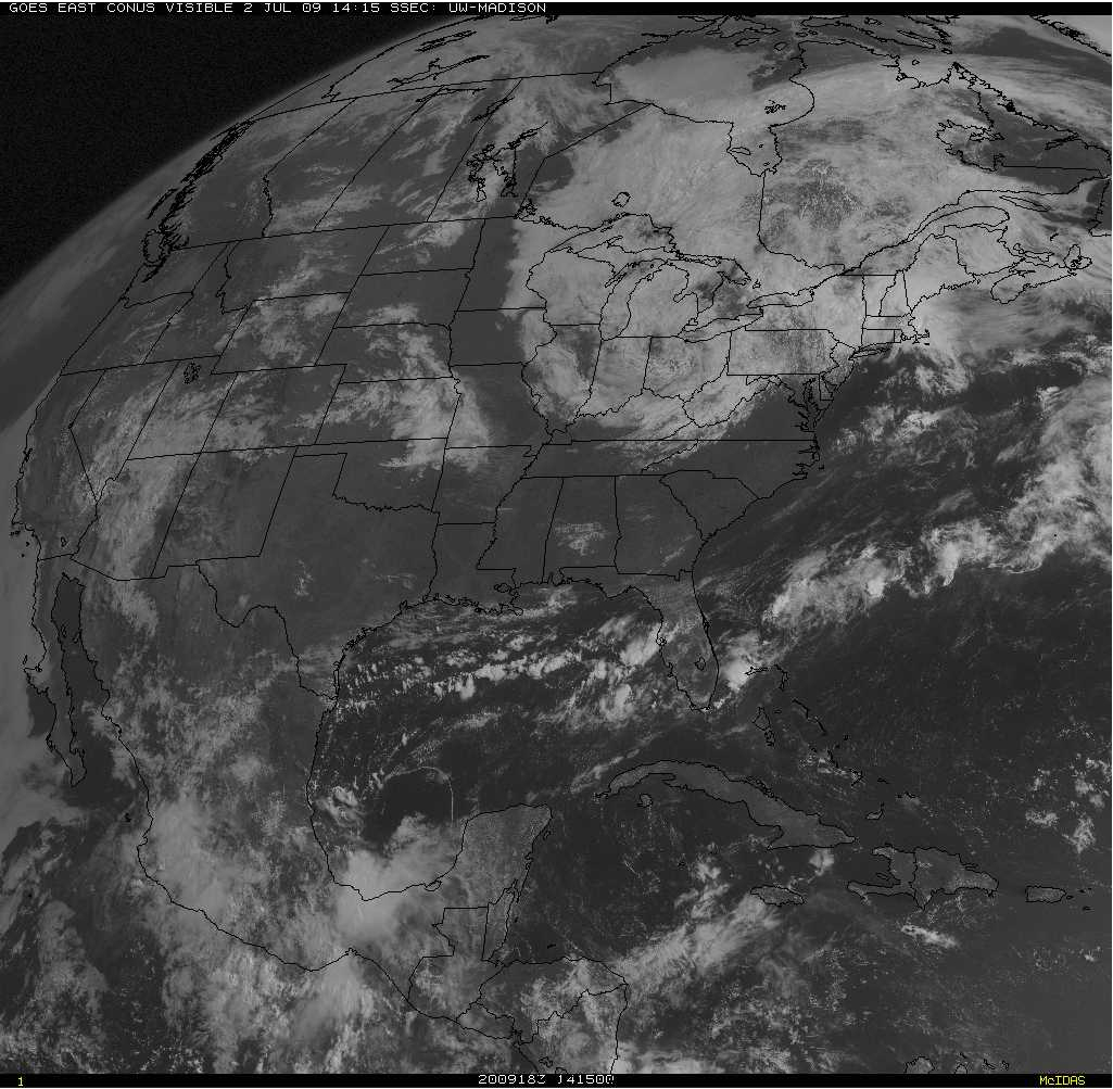 GOES-12 visible image