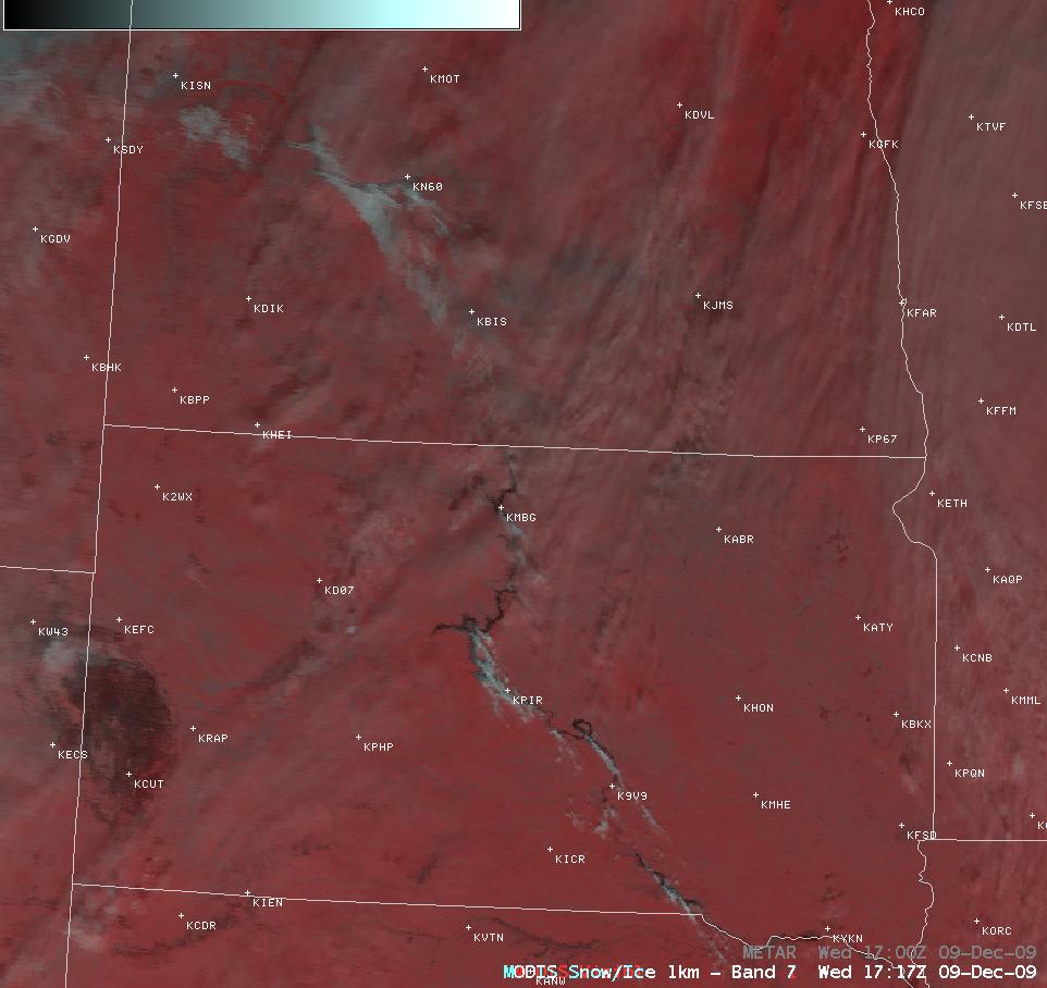 MODIS false-color Red/Green/Blue (RGB) image