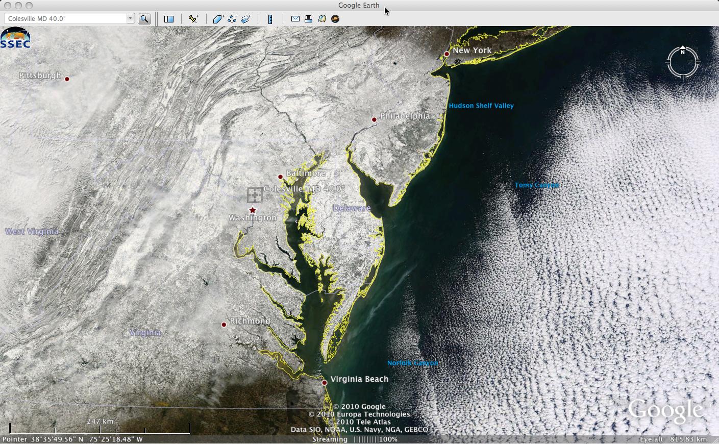 MODIS true color image (displayed using Google Earth)