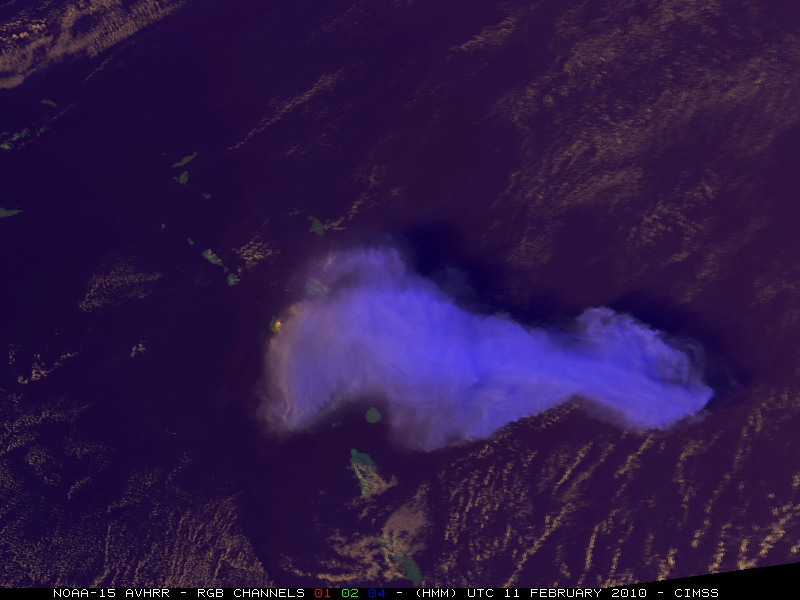 NOAA-15 AVHRR false-color Red/Green/Blue (RGB) image at 21:02 UTC