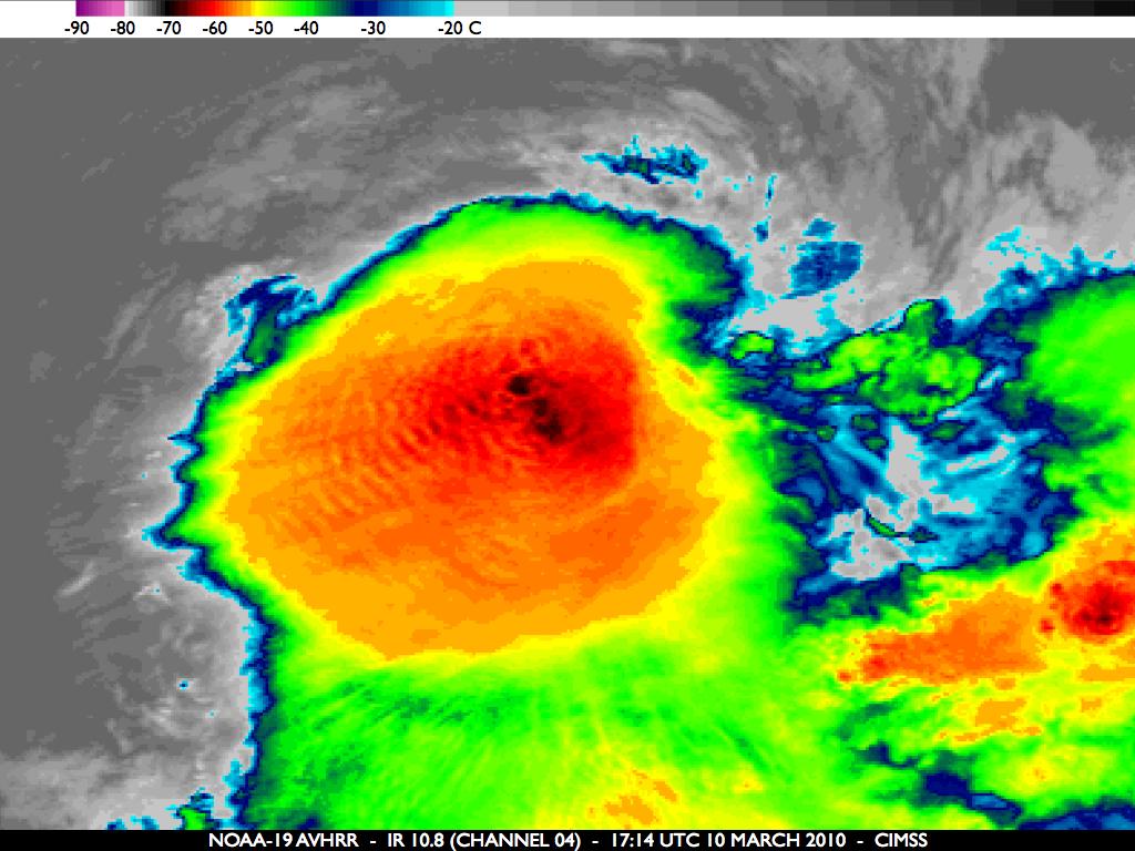 NOAA-19 10.8 µm IR image