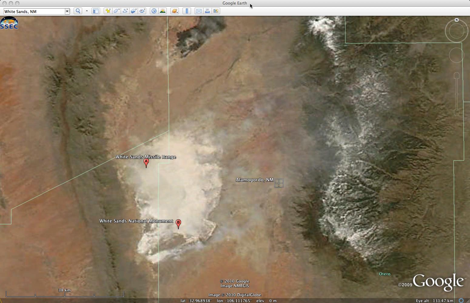 Aqua MODIS true color image (viewed using Google Earth)