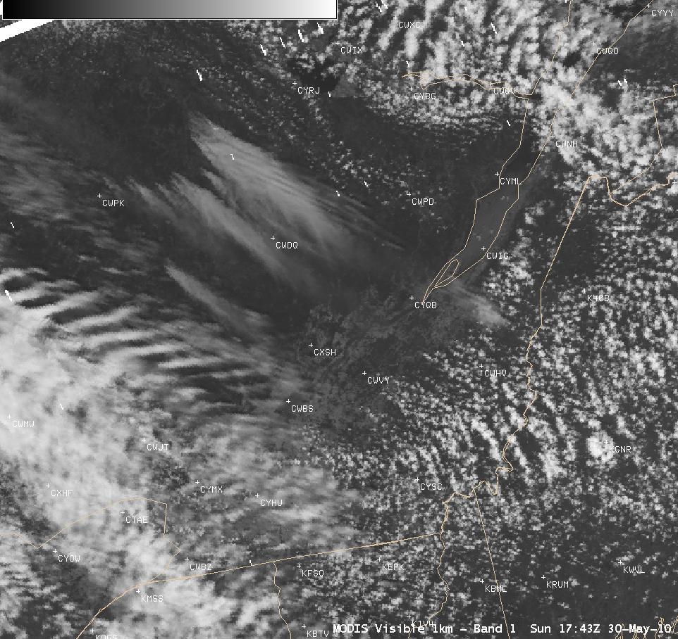 MODIS 0.65 µm visible image