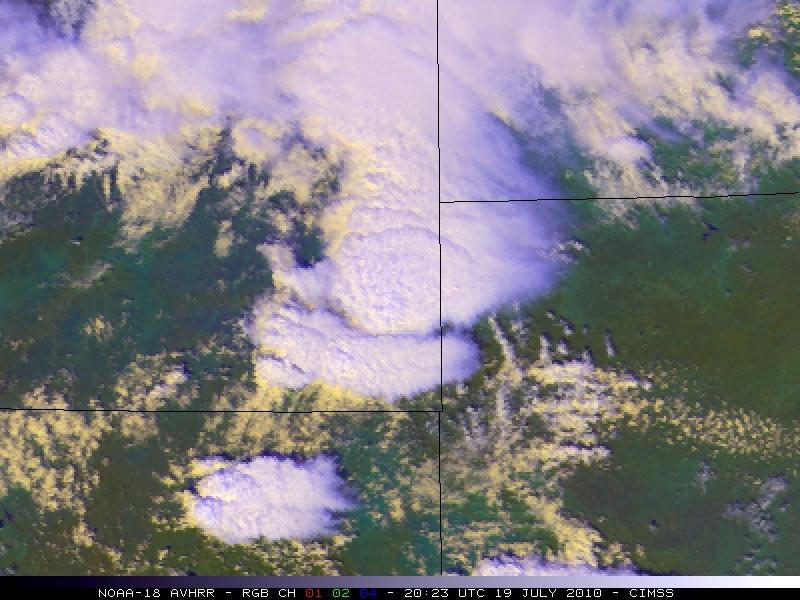 NOAA-18 false-color RGB image