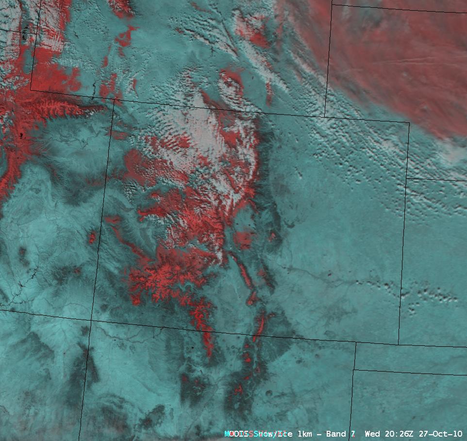 MODIS false color Red/Green/Blue (RGB) image