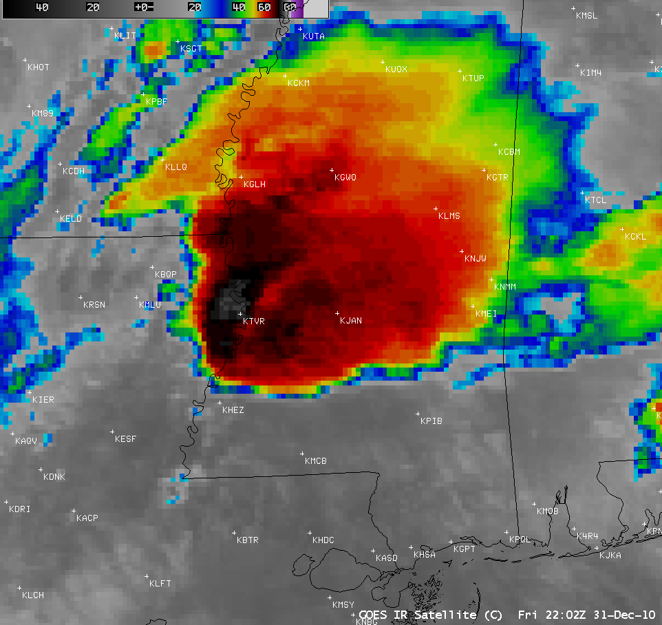 GOES-13 10.7 µm IR images (click image to play animation)