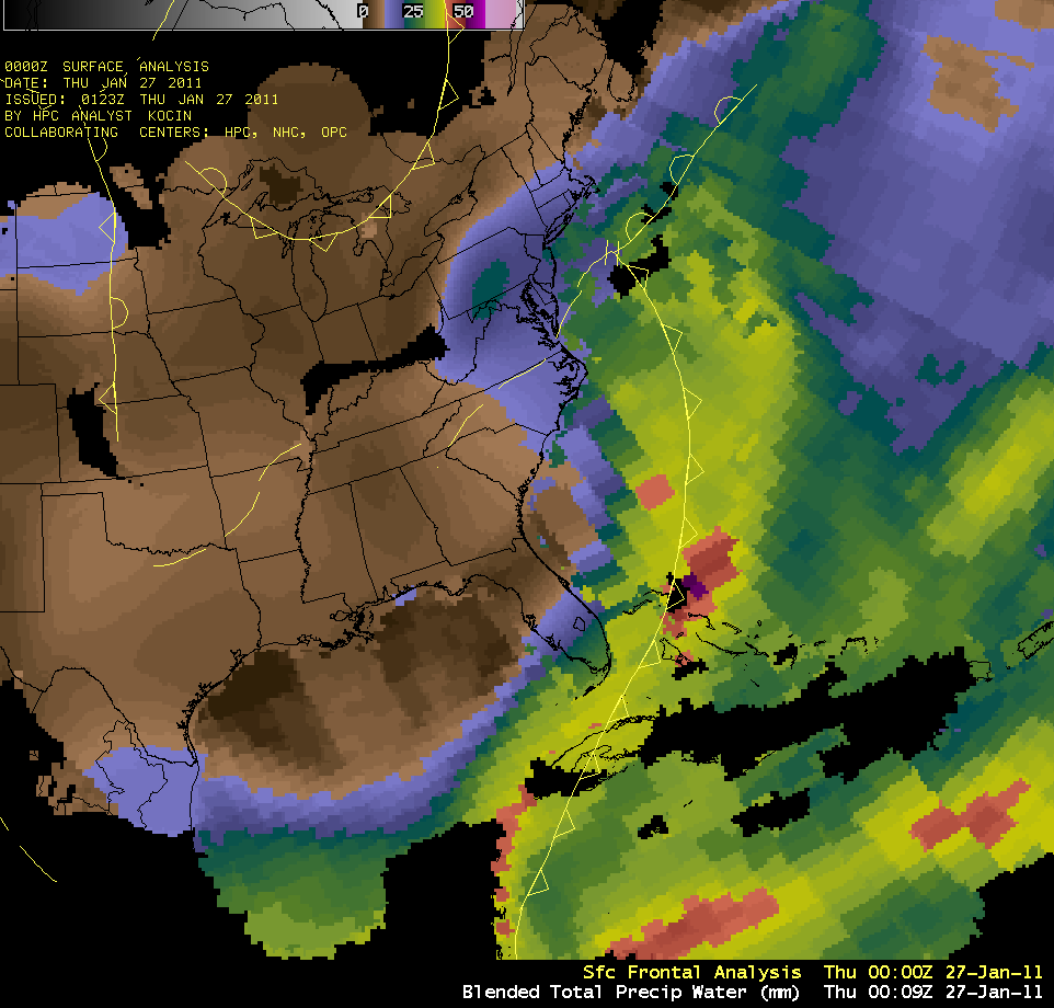 Blended Total Precipitable Water product (click image to play animation)