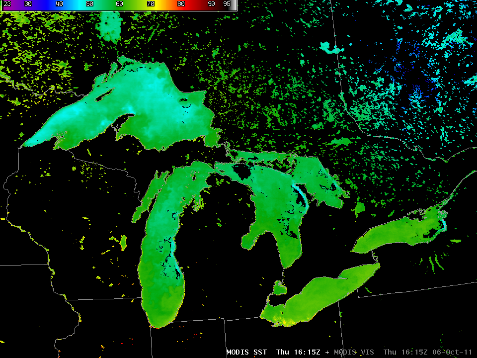 06 October MODIS Sea Surface Temperature Image
