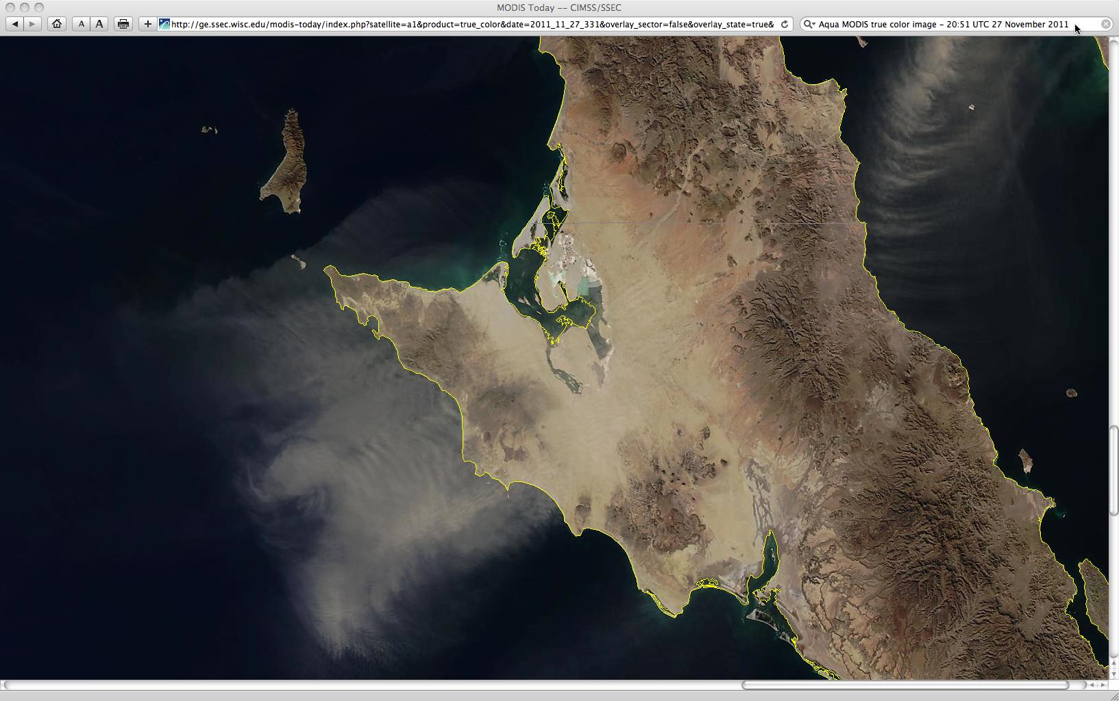 MODIS true color Red/Green/Blue (RGB) image